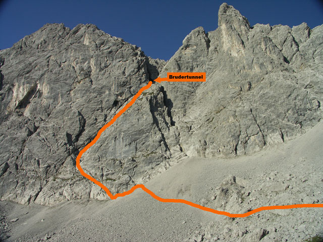 Klettersteig Lamsenspitze : Lamsenjochhütte m lamsenspitze