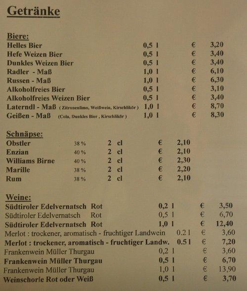 Erfreut Preisliste Getränke Galerie - Hauptinnenideen - nanodays.info